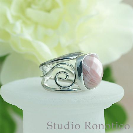 ピンク蝶貝のシルバーリング