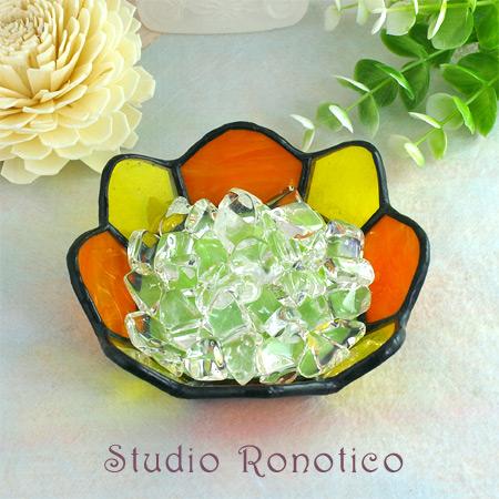 ステンドグラス小皿