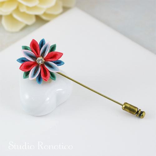 花モチーフのハットピン