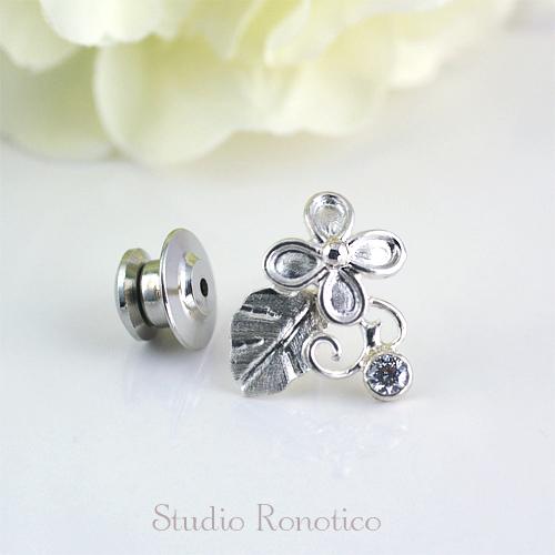 Silver925 お花のピンブローチ ラペルピン